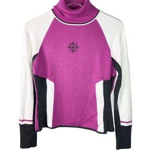 Rare Nils Turtle neck sweater Purple Pink M
